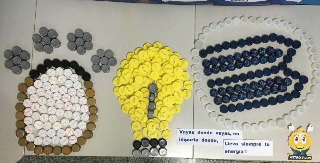 img 0990 1024x523 - En Banplus sumamos energía y creatividad con tapitas de plástico
