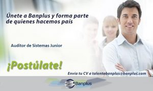Auditor de Sistemas Junior Blog 300x178 - Vacantes de empleo en Banplus, enero 2019