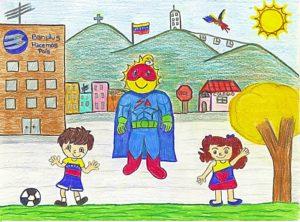 Dibujo Mejor Temática Hacemos P 300x222 - Con la familia Banplus  ¡Dibujamos País! para seleccionar al superhéroe del Plan Vacacional 2019