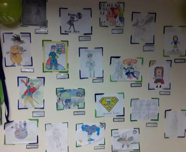 Exposición Dibujamos País 600x490 - Con la familia Banplus  ¡Dibujamos País! para seleccionar al superhéroe del Plan Vacacional 2019