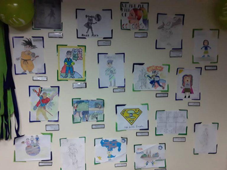 Exposición Dibujamos País 768x576 - Con la familia Banplus  ¡Dibujamos País! para seleccionar al superhéroe del Plan Vacacional 2019
