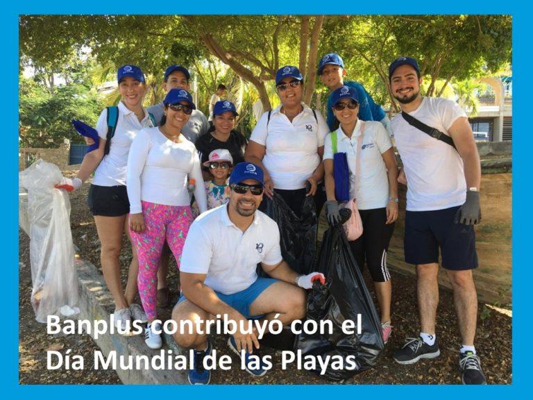 Banplus en el Día de Las Playas 2 1 768x576 - En Nueva Esparta colaboramos con jornada de limpieza en el Día Mundial de las Playas