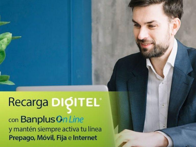 Recarga Digitel 768x576 - ¡La comodidad llega a ti! Desde Banplus On Line realiza tu Recarga Digitel