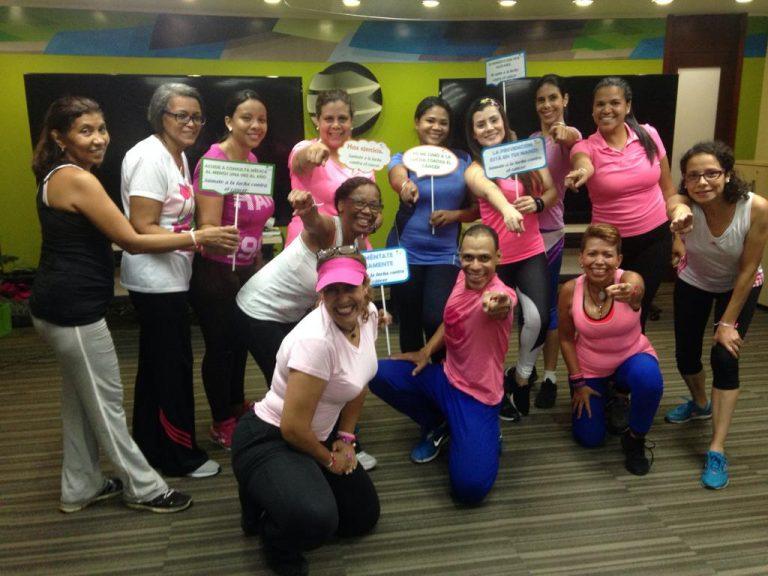 Clase Rosa 3 Banplus 768x576 - El color rosa fue inspiración para una súper clase de Latín Caribbean