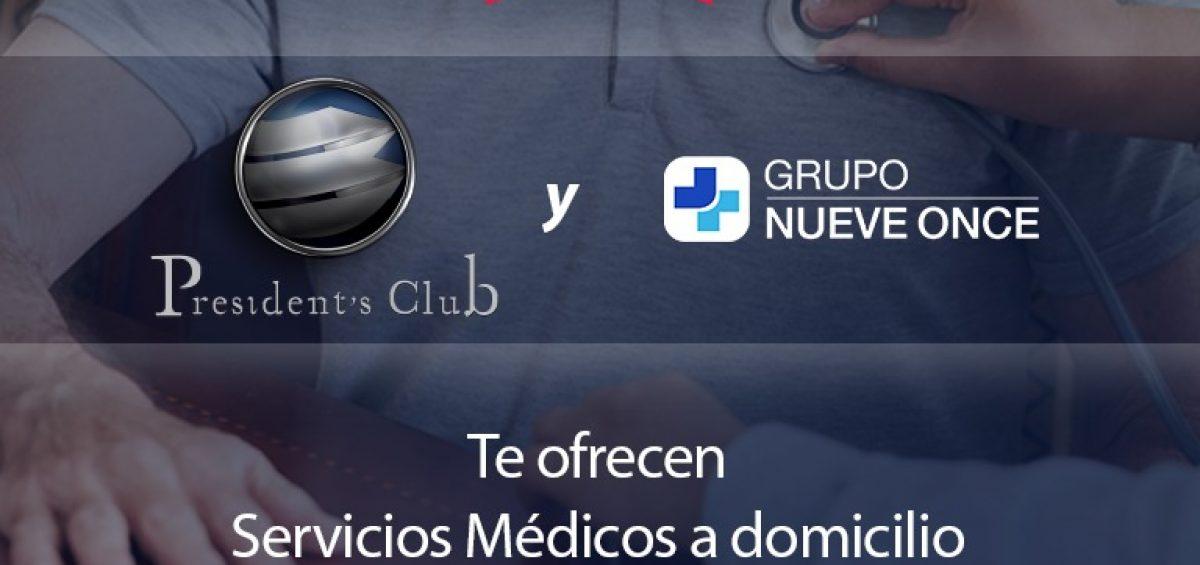 BLOG 911 SERVICIOS DE SALUD PRESIDENTS 1200x565 - Grupo Nueve Once, nuevo servicio para miembros de President's Club