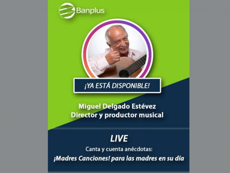 Post IG Live Miguel Delgado Estévez 768x576 - Disfruta del concierto que transmitimos en honor a las madres a través de @BanplusOnLine