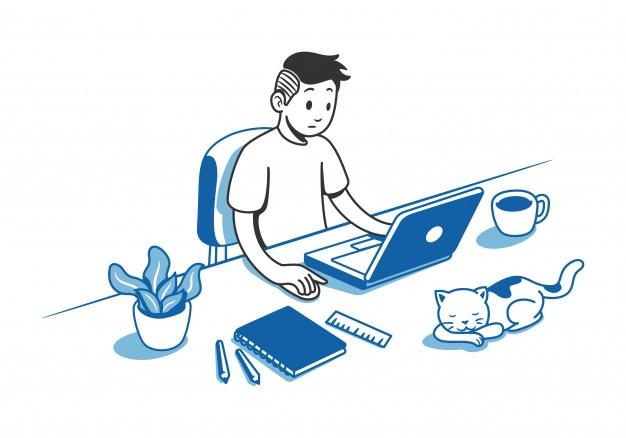 hombre trabajando escritorio 14656 98 - Parte II | Desde casa, ¿podemos trabajar en equipo?