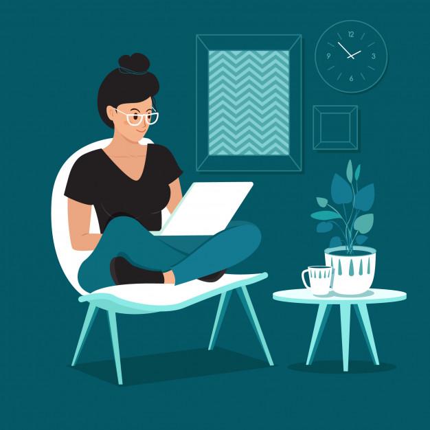 mujer independiente que trabaja casa 76243 193 - Parte I | Desde casa, ¿podemos trabajar en equipo?