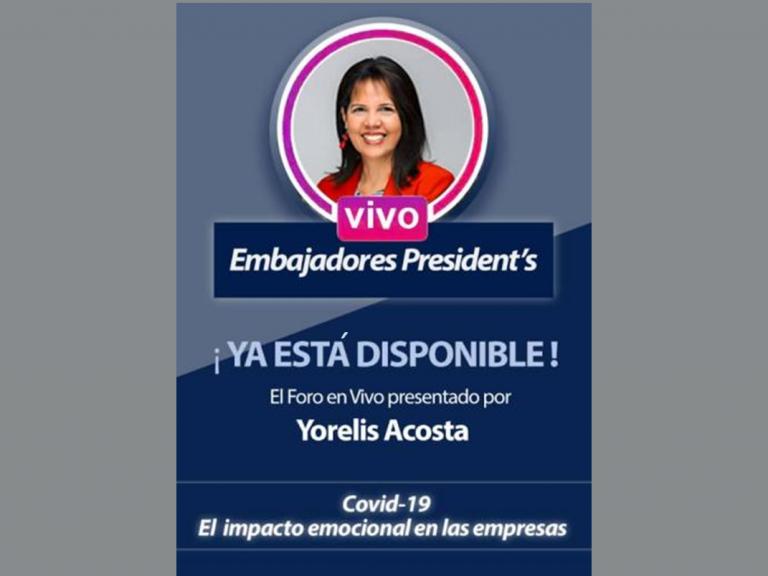 post IG Live Yorelis Acosta 768x576 - Yorelis Acosta dio útiles consejos ante la realidad laboral por el Covid-19 | IG Live por President's Club