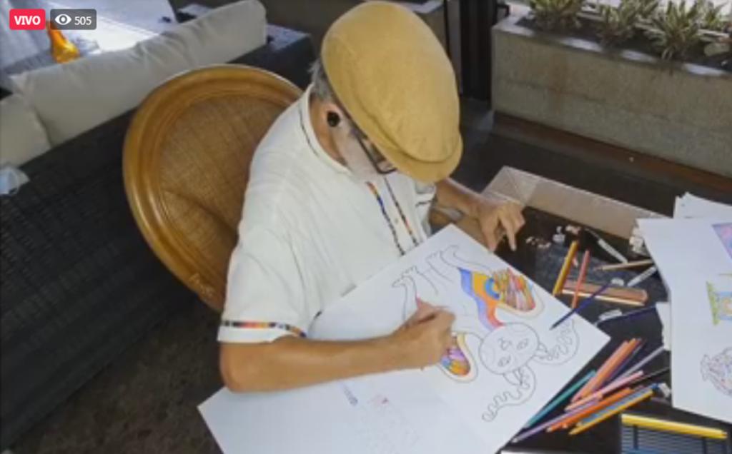 3. Felipe García Taller de Dibujo 16JUL2020 1 1024x636 - Durante la pausa escolar, invitamos a los niños al Taller de Dibujo de Alebrijes con Felipe García, artista venezolano