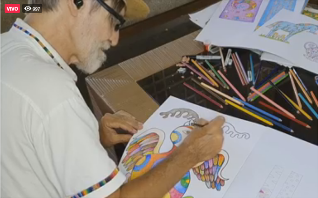 6. Felipe García Taller de Dibujo 16JUL2020 1 1024x639 - Durante la pausa escolar, invitamos a los niños al Taller de Dibujo de Alebrijes con Felipe García, artista venezolano