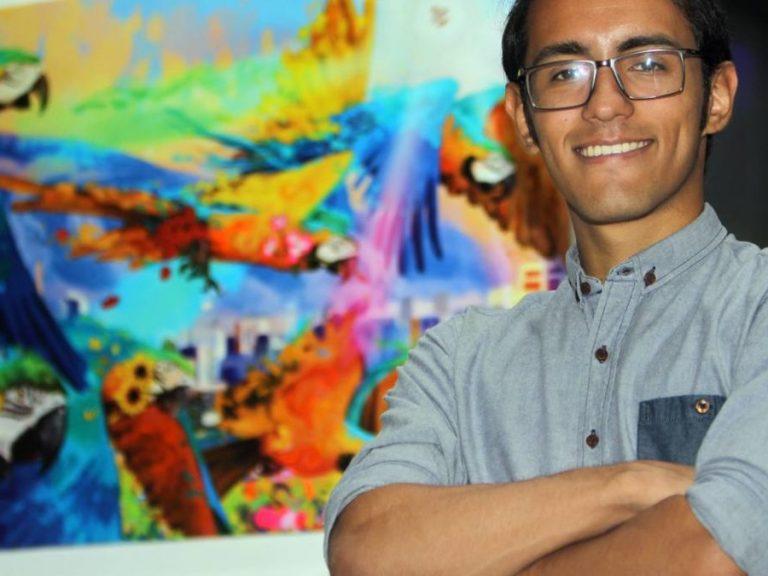 Oscar Olivares con Banplus 768x576 - Pequeños y grandes de Banplus motivados a descubrir sus talentos | De la mano de Oscar Olivares, artista