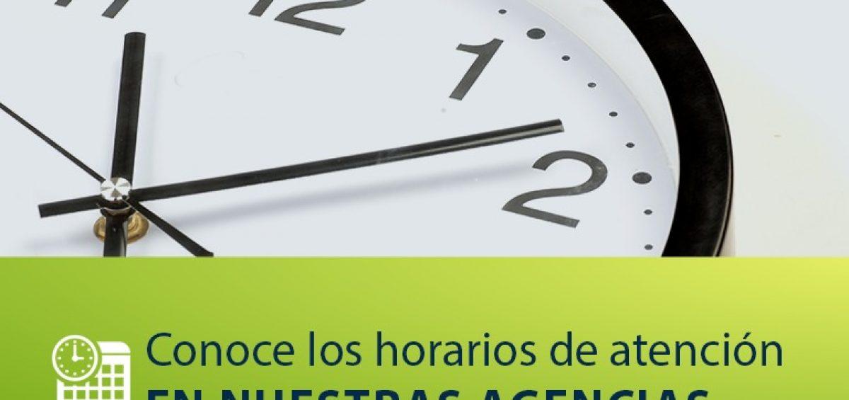 Horario de Atencion agencias 1200x565 - Conoce los horarios de atención en nuestras agencias | Noviembre 2020