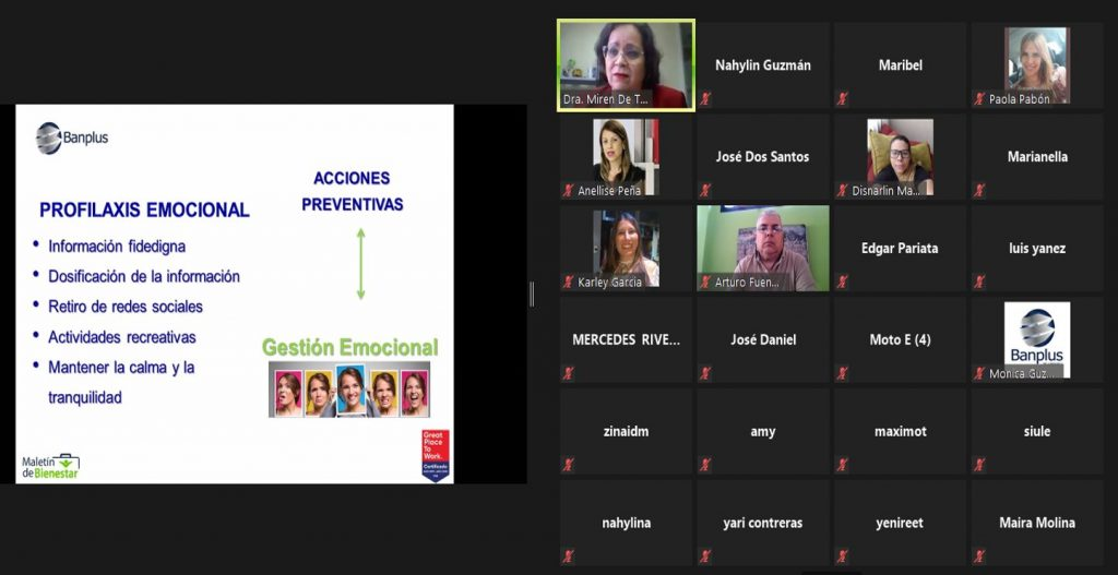 Foto charla Gestion Emocional Covid 19 Blog 1024x527 - En Banplus compartimos herramientas para gestionar emocionalmente la pandemia